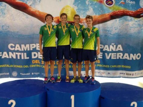 podium oro campeones de españa