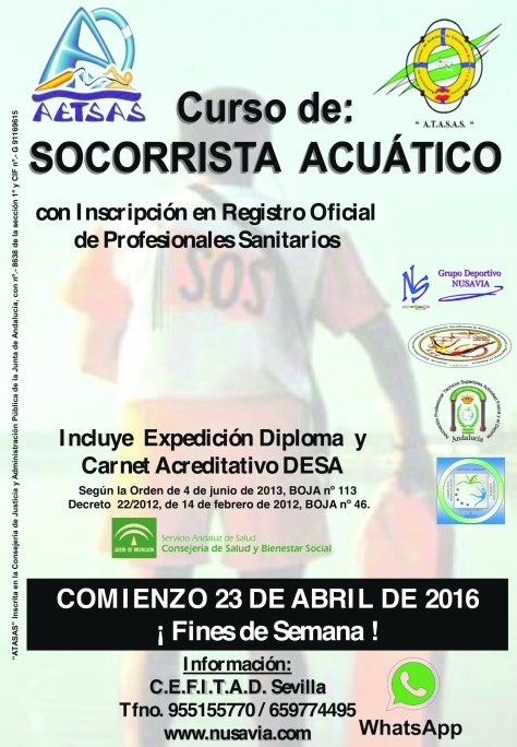 CARTEL CURSO  ABRIL SOS  2016